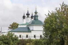 Tsaarconstantine kerk in suzdal, Russische federatie stock afbeeldingen