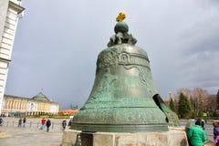 Tsaarklok, in het Kremlin in Moskou royalty-vrije stock foto