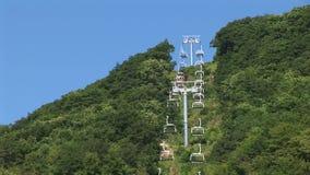 Tsakhkadzor ropeway. Tsakhkadzor is a resort town in Armenia. New 3 level of ropeway at sammar stock video