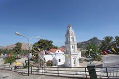 Tsambika教会 Lindos 库存图片