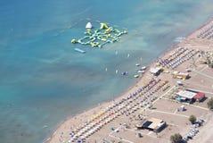 Tsambika beach from above Royalty Free Stock Images
