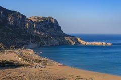 Tsambika beach, Greece Stock Images