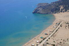Tsambika beach on the island of Rhodes Stock Image
