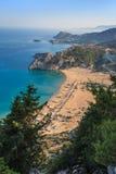 Tsambika beach Royalty Free Stock Photos