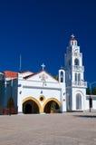 Tsambika-Kloster auf Rhodos-Insel, Griechenland. lizenzfreies stockfoto