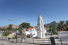 Tsambika kościół Rhodes wyspa Obraz Stock
