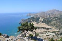 Tsambikastrand, Rhodes Island, Griekenland, Europa Royalty-vrije Stock Fotografie