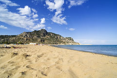Tsampika beach in Greece. Tsambika (Tsampika) beach on Rhodes Island, Greece Royalty Free Stock Photo
