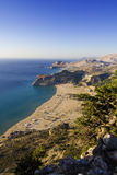 Tsampika beach in Greece - bird's eye view Stock Photo