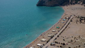 Tsampika beach. View on the Tsampika beach on Rhodes. Greece stock video footage