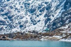 Tsangmo sjö i Sikkim, Indien Arkivfoto