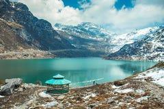 Tsangmomeer in Sikkim, India royalty-vrije stock afbeeldingen