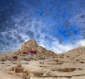 Tsaparang, the ruins of the ancient capital of Guge Kingdom and royalty free stock image