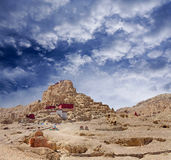 Tsaparang, the ruins of the ancient capital of Guge Kingdom and royalty free stock photos