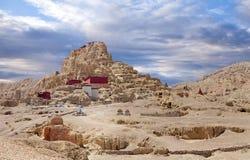 Tsaparang, the ruins of the ancient capital of Guge Kingdom and. Tsaparang citadel, the ruins of the ancient capital of Guge Kingdom and Tholing Monastery, Tibet Royalty Free Stock Image