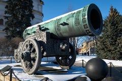 Tsar大炮在莫斯科 免版税库存照片