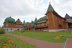 Tsar Alexei Mikhailovich wooden palace in Kolomenskoye Stock Photos