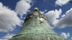 Tsar Bell, Moscow Kremlin, Russia -- also known as the Tsarsky Kolokol, Tsar Kolokol III, or Royal Bell.  stock video footage