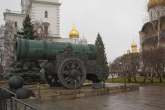 Tsar cannon — a medieval cannon bombard, a monument of Russian artillery and founding art Stock Image