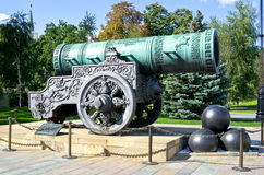 Tsar cannon in Kremlin Stock Image