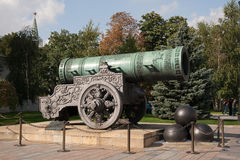 Tsar Cannon at the Kremlin in Moscow Stock Photography
