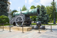 Tsar Cannon in Kremlin, Moscow. Stock Photo