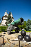 Tsar Cannon in the Moscow Kremlin close up view Royalty Free Stock Photography