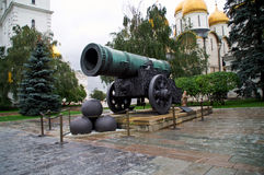 Tsar Cannon in the Moscow Kremlin. Royalty Free Stock Photo