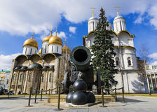 Tsar Cannon in the Moscow Kremlin, Russia Royalty Free Stock Photo