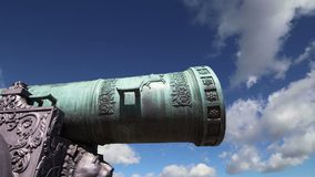 The Tsar Cannon, Moscow Kremlin, Russia stock video footage