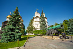 Tsar Cannon view in front of Patriarch's Palace Royalty Free Stock Photo