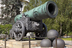 Tsar działo, Moskwa Kremlin, Rosja. Obrazy Royalty Free