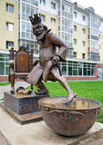 Tsar from fairy tale - sculpture in Tobolsk Stock Photo