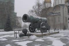 Tsar kanon i Moscow Arkivbild