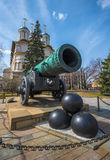 Tsar or King Cannon in Moscow Kremlin, Russia Royalty Free Stock Images