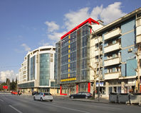 Tsar Nicholas  Street in Podgorica.   Royalty Free Stock Photos