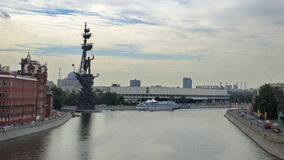 Tsar Peter the great monument stock video footage