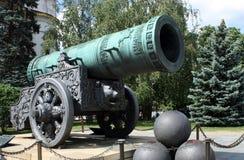 Tsar-pushka en Kremlin Foto de archivo libre de regalías