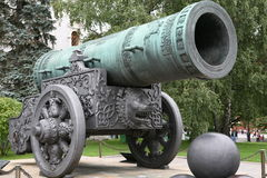 Tsar-pushka in Kremlin. Stock Photo