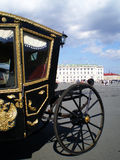 Tsar's carriage. Tsar's carriage on a Palace square, Saint-Petersburg stock images