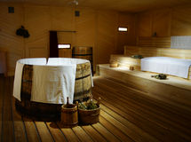 Tsars sauna. Old Style Tsars (Kings) Sauna in Moscow, Russia. Steam sauna Royalty Free Stock Image