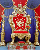 Tsar throne stock photo