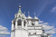 Tsarekonstantinovsky教会在市沃洛格达州 图库摄影