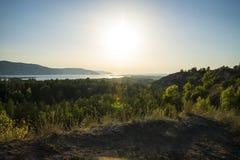 Tsarev kurgan Przyciąganie Samara region Na pogodnym letnim dniu Obrazy Stock