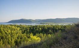 Tsarev kurgan Przyciąganie Samara region Na pogodnym letnim dniu Fotografia Royalty Free