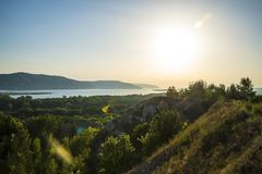 Tsarev kurgan Przyciąganie Samara region Na pogodnym letnim dniu Zdjęcia Royalty Free