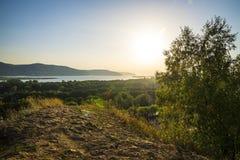Tsarev kurgan Przyciąganie Samara region Na pogodnym letnim dniu Zdjęcie Royalty Free
