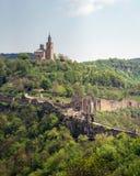Tsarevets城堡在保加利亚 历史的大特尔诺沃市,游览 免版税图库摄影