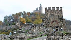 Tsarevets堡垒大特尔诺沃 库存照片