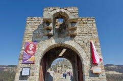 Tsarevets,中世纪堡垒 库存图片